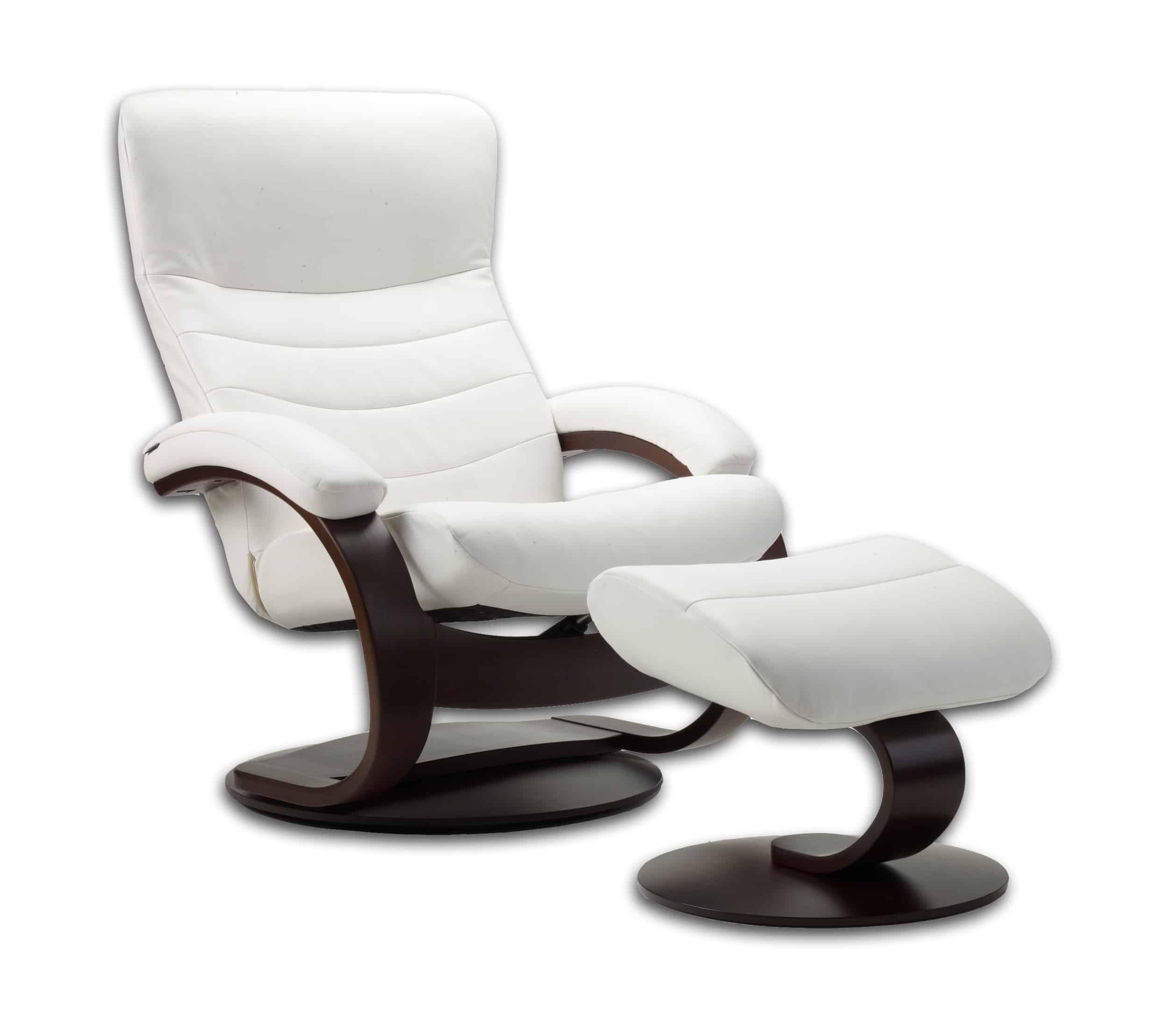 fjords trandal recliner  chair land furniture - fjords trandal recliner  white