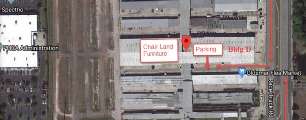 Chair Land Oldsmar Flea Market parking directions map