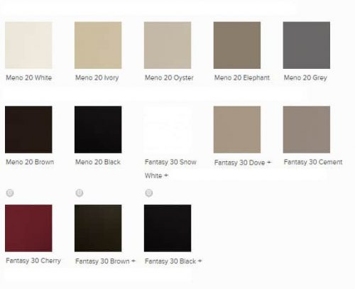 Conform leather colors