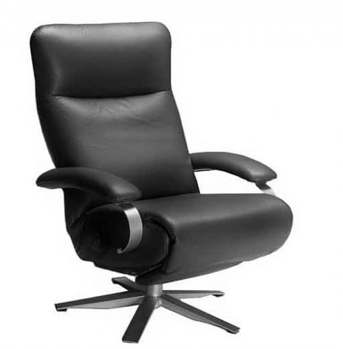 Carrie Recline -r Black - Lafer Leather Recliner