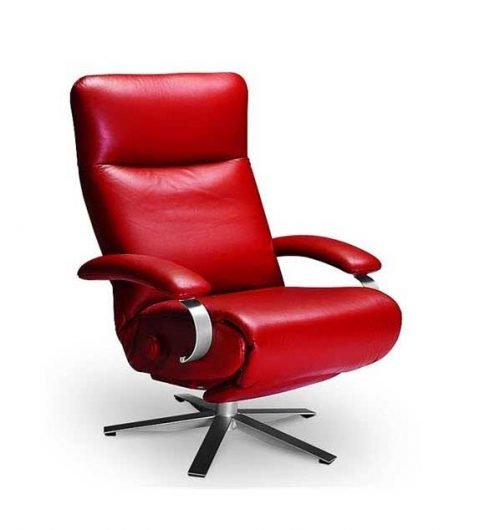 Carrie Recliner Red - Lafer Leather Recliner