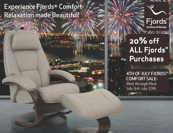 4th of July Sale - Fjord's Admiral Leather Recliner