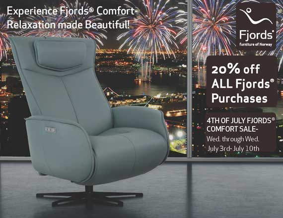 4th of July Sales - Fjord's Axel Leather Recliner