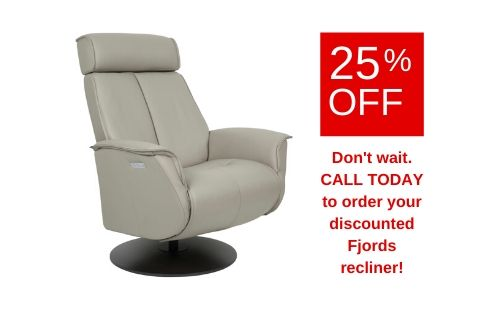 Fjords Bo Leather Recliner - 25% OFF
