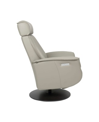 Fjords Bo Leather Recliner side - Cement Charcoal