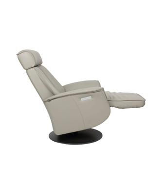 Fjords Bo Leather Recliner Open - Cement Charcoal