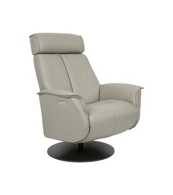 Fjords Bo Leather Recliner - Cement Charcoal