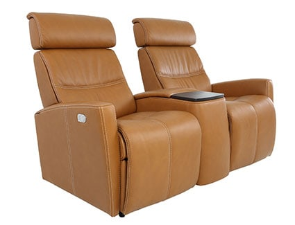Fjors Milan Cinema seating - AL54 Vintage Cognac
