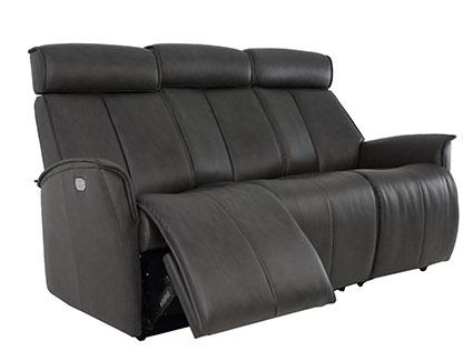 Fjords Venice WS 3 Seat Leather Sofa - SL 247 Storm